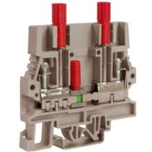 SCB.6/DDGR, тестовый с разъединителем для вольтметра 6 кв.мм серый