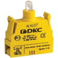 Контактный блок с клеммными зажимами под винт со светодиодом на 24В