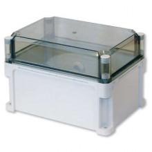 Корпус 300х150х195 IP67 стенки, прозрачная крышка (выс.крышки 70)