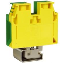TEC.35/D, зажим для заземления желт.зелен 35 кв.мм