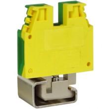TEC.10/D, зажим для заземления желт.зелен 10 кв.мм