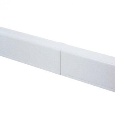 AIR10049 | Накладка на стык для плинтусного короба 100х40 мм белое