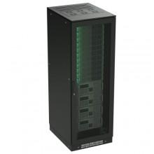 Напольный шкаф 24U 600х600 двери перфорированная/перфорированная, укомплектован вводом и заглушками RAL 9005