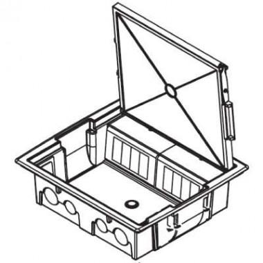 88016 | Лючок напольный NEST, 16 модулей