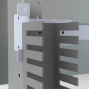 Комплект держателей перфокороба, задних, 1 упаковка - 4 шт