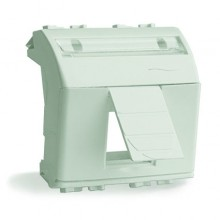Адаптер для информационных разъемов Keystone, белый, 2 мод.