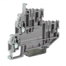 Клеммный зажим. Двухуровневый. Со штыревыми контактами. Тип VPD.2/GR. Серый. 2,5 кв.мм.