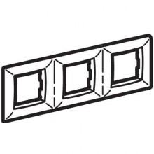 Рамка на 2+2+2 модуля (трехместная), белая, RAL9010