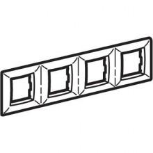 Рамка на 2+2+2+2 модуля (четырехместная), белая, RAL9010