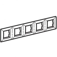 Рамка на 2+2+2+2+2 модуля (пятиместная), белая, RAL9010