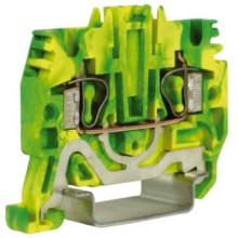 HTE.2, зажим для заземления, 2,5 кв.мм желто-зеленый