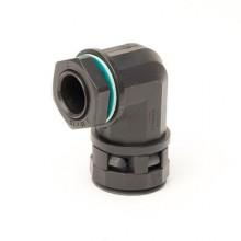 Монтажный комплект муфта 90 грд. труба-коробка DN 12 мм, М16х1,5, полиамид, цвет черный