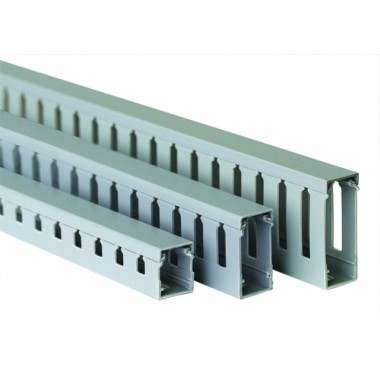 00126RL   Короб перфорированный, серый RL75 25x30