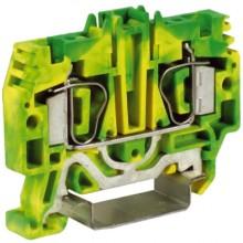 HTE.4, зажим для заземления, 4 кв.мм желто-зеленый
