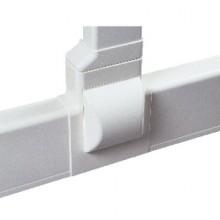 Тройник для плинтусного короба 100х40 мм с отводом на короб 90х40 мм, белый