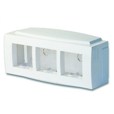 09221 | Модульная коробка для электроустановочных изделий Brava, 6 модулей