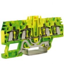 HTE.2/2+2, зажим для заземления, 2 ввод/2 вывода, 2,5 кв.мм желто-зеленый