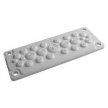 Кабельный ввод, пластик V0 UL94, IP65, +130 - 40, 25 отверстий