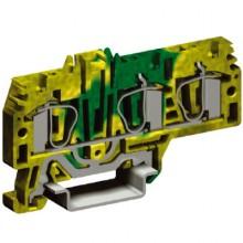 HTE.4/1+2, зажим для заземления, 1 ввод/2 вывода,4 кв.мм желто-зеленый