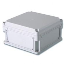 Корпус 400х200х160 IP67 фланцы, непрозрачная крышка (выс.крышки 35)
