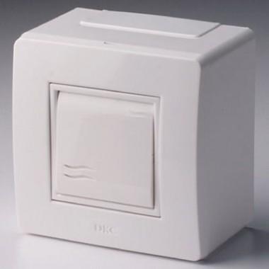 10002 | Коробка в сборе с выключателем, белая