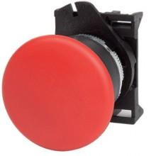 Кнопка грибовидная, прозрачная с фиксацией, красная д. 40