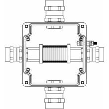 Коробка клеммная Ex из GRP; 1Ex e IIC T5 Gb; Ex tb IIIB T95°C Db IP66; Клеммы 2.5мм2-12шт; А-B-C-D: ввод D15-24мм под бронированный кабель Ni-4шт