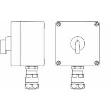 Пост управления Ex из GRP; 1Ex d e IIC T5 Gb X IP66; Ex tb IIIB T95C DbX; Переключатель КВ 0-I ,2NO -1 шт.; B: ввод D8-13мм под небронированныйкабель в металлорукаве Dt 20мм. Ni -1 шт.