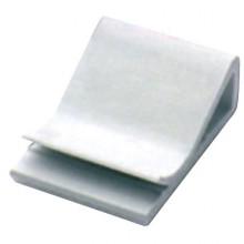 Клипса самоклеящаяся для плоского кабеля, белая, 20х26х9,6