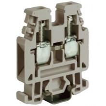 RP.4/6GR, проходной зажим 4 кв.мм серый