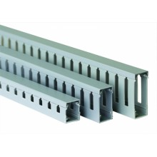 Короб перфорированный, серый RL75 15x40