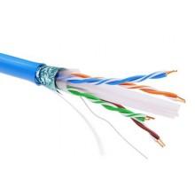 Информационный кабель экранированый F/UTP 4х2 CAT6, PVC, синий