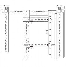 Объединительные панели для секций шкафов DAE/CQE, 800мм, 1 упаковка - 5шт.