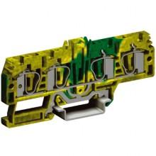 HTE.4/2+2, зажим для заземления, 2 ввод/2 вывода,4 кв.мм желто-зеленый