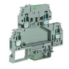 DSFA.4/L12, зажим с 2 уровнями, верхний под предохранитель 4 кв.мм бежевый, с микросхемой LED 12 В
