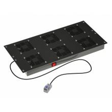 """Вентиляторный модуль 19"""", 6 вент. с термостатом RAL 9005"""