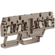 HMM.2/2+2/AGR, проходной зажим, 2 ввод/2 вывода, серый 2,5 кв.мм, разомкнутые
