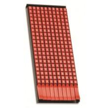 Маркер для кабеля сечением 0,5-1,5мм пустой красный