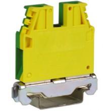 TEC.6/O, зажим для заземления желт.зелен 6 кв.мм