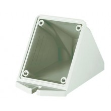 Коробка для настенного монтажа с наклоном розеток с фланцем 84*106 мм