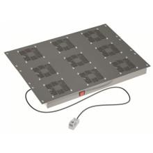 """Вентиляторный модуль 19"""", 9 вент. с термостатом RAL 9005"""