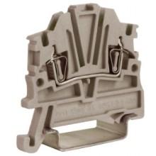 HMM.1GR, проходной зажим 1,5 кв.мм серый