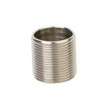 6051-25 | Ниппель M25x1,5, никелированная латунь