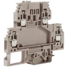 DSFA.4GR, зажим с 2 уровнями, верхний под предохранитель 4 кв.мм серый