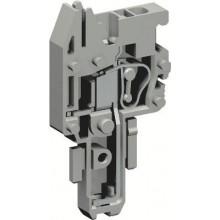 Разъем типа гнездо, с пружинным зажимом на 1 контакт для клемм типа HVPC. Серый. 2,5 кв. мм.