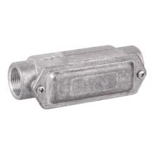 Коробка протяжная алюминиевая, 2 ввода 180°, М32х1,5 ,IP55, 146х45х57мм