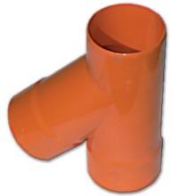 Тройник для двустенных труб,45 ,полипропилен,д.125