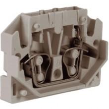 HP.2GR, мини зажим, проходной 2,5 кв.мм серый
