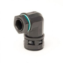 Монтажный комплект муфта 90 грд. труба-коробка DN 48 мм, М50х1,5, полиамид, цвет черный