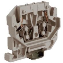HPP.2GR, мини зажим, проходной 2,5 кв.мм серый